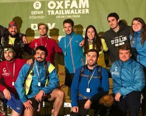 Agrupación deportiva Grupo Garatu equipo llegando a meta