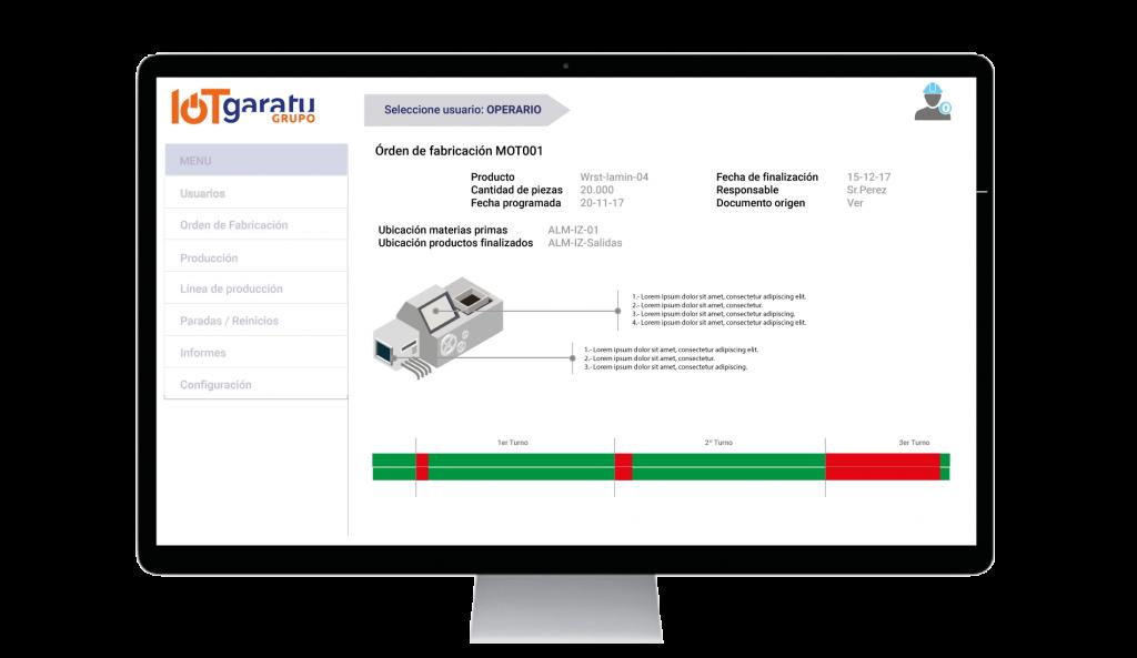 pantalla-operario smartfactory Grupo Garatu