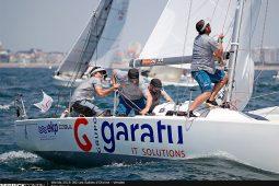 Iker Almandoz en el campeonato mundial j80 grupo garatu
