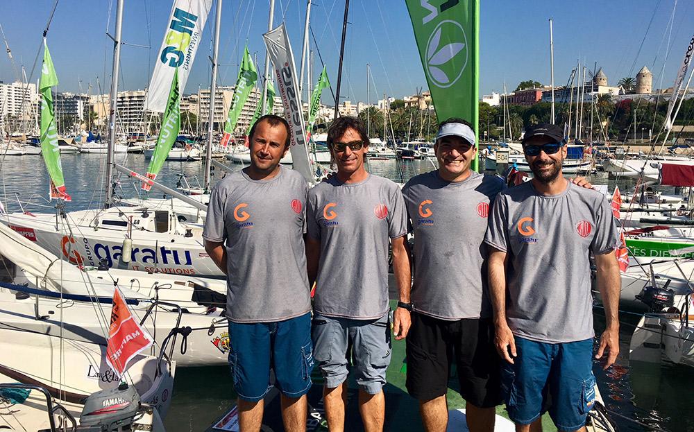 Equipo AD Grupo Garatu en la 37 copa del rey mapfre: Iker Almandoz, Iñigo Jauregui, Borja Ponte y Eneka Juanena