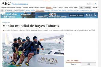 ABC Deportes – Vela de Crucero- Manita mundial de Rayco Tabares. Se lo merecen nos decía Iker Almandoz (Subcampeón J80)