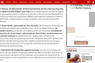 AS – Polideportivo – el «Maitena» se adjudica la XXVII Regata Costa Vasca – ADGaratu se clasificó tercero