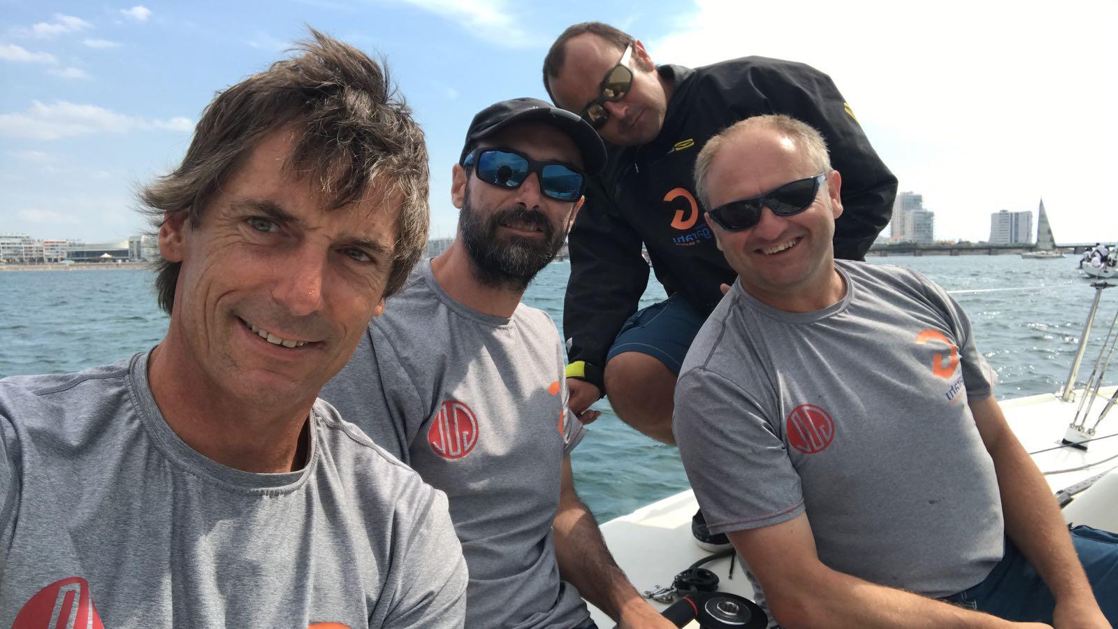 Subcampeones mundial j80 2018 Iker Almandoz, Íñigo Jauregui. Borja Ponte e Íñigo Sánchez
