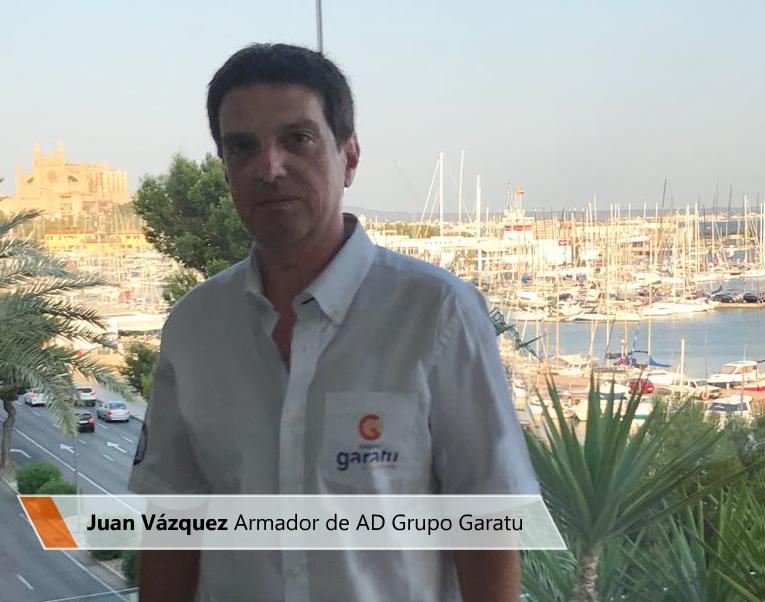 Juan Vázquez de Dios, CEO de Grupo Garatu y armador del equipo de vela J80 AD Grupo Garatu