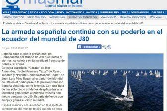 Masmar, tu portal náutico en internet –  La armada española continúa con su poderío en el ecuador del mundial de J80