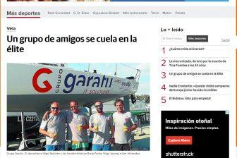 Diario Vasco – Un equipo amateur, AD Grupo Garatu se cuela en la élite de la vela internacional