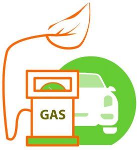 Suridor de gas para coches eficientes ecologicos