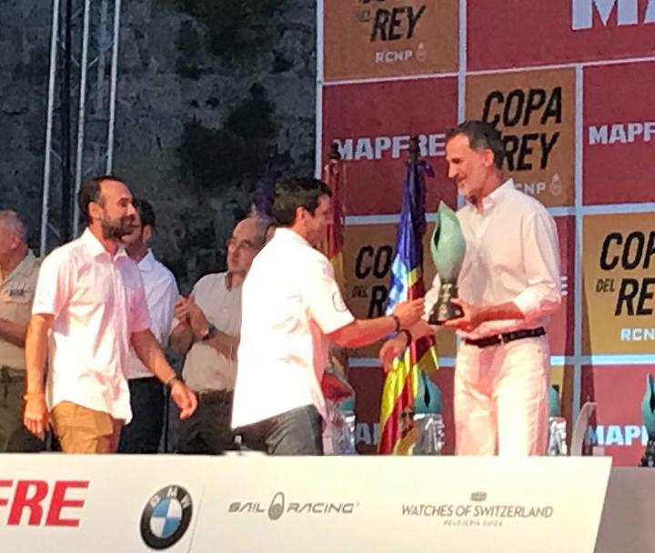 Juan Vazquez de Dios recogió el trofeo de la 38 copa del rey de mapfre de manos de S.M. el Rey Felipe VI