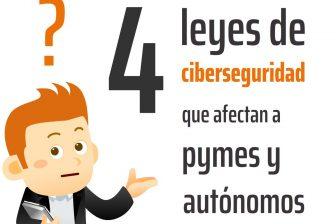 4 leyes sobre ciberseguridad que afectan a pymes y autónomos