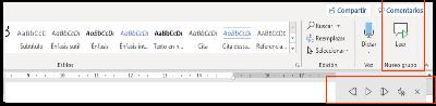 Icono de la opción Leer en voz alta de Office 365 en word