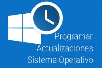 Configura las horas de actualizaciones de tu sistema operativo