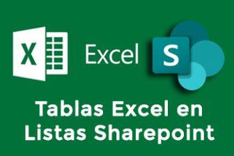 Gestiona tablas de Excel desde listas de Sharepoint y viceversa